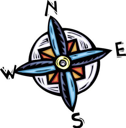 Compass, close-up