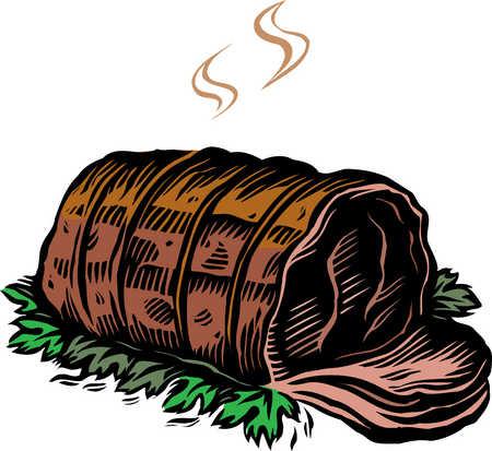 Stock Illustration - roast beef (450 x 413 Pixel)