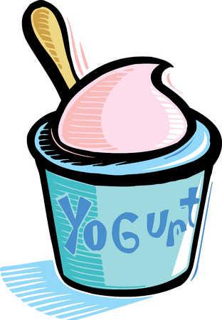 Stock Illustration - cup of yogurt