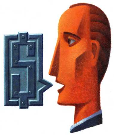 Businessman with dollar sign, close-up