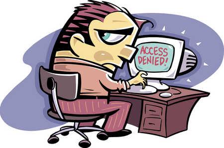access denied,royalty free illustration