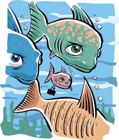 big fish training the little fish