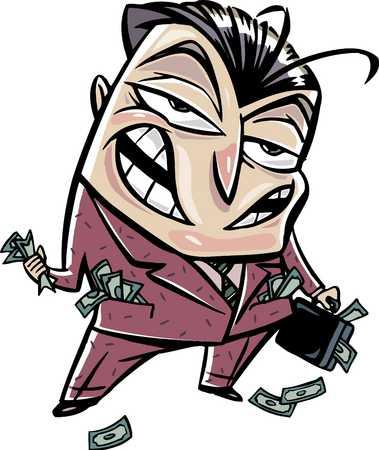 Greedy businessman