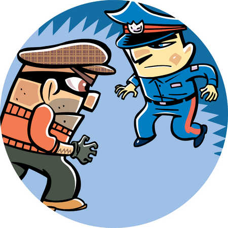 a thief and a policeman