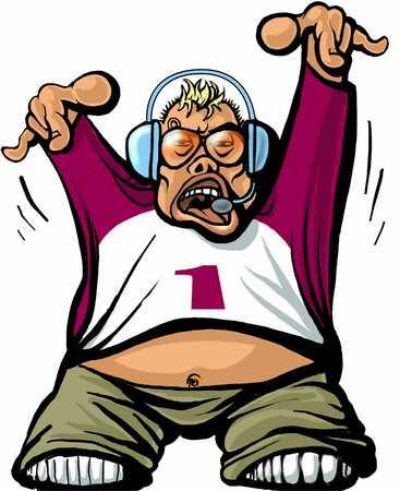 DJ wearing headphones