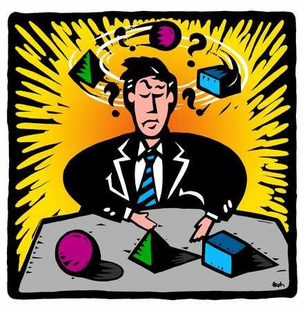 businessman making decisions