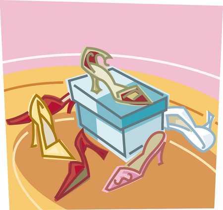 Shoe shop, close-up