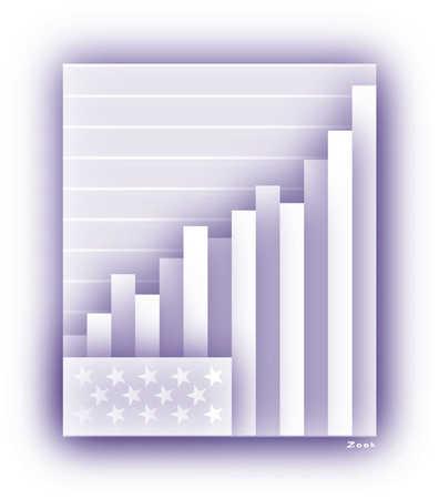 American flag turned into bar graph