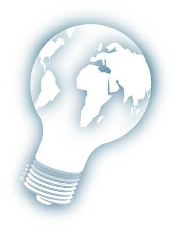 World as a light bulb
