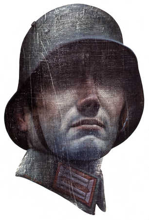 Closeup of soldier with helmet