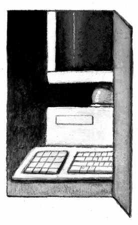 Open Door With Computer