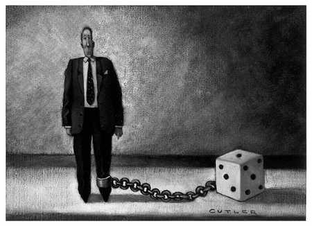 Man With Die Chained To Ankle