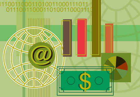 World and finances connected via world wide web