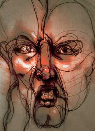 Distorted view of head