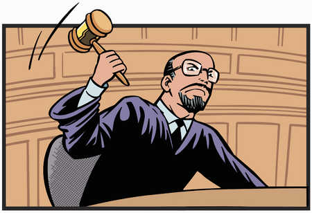 Judge banging the gavel