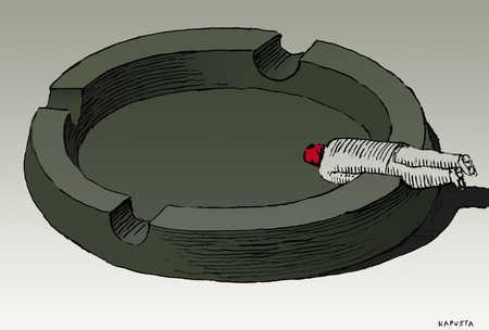 Man in an ashtray