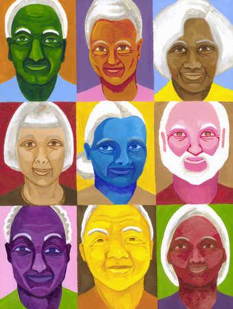 Portraits of senior adults