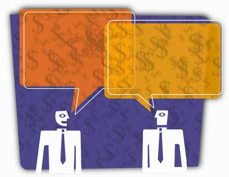 Businessmen talking about finances