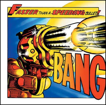 Handgun shooting bullet