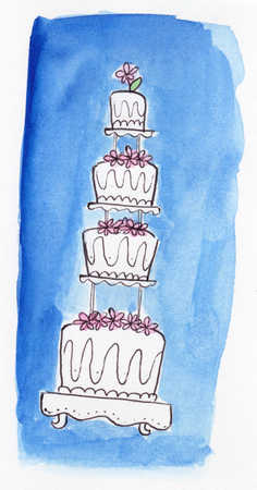 Four tiered wedding cake