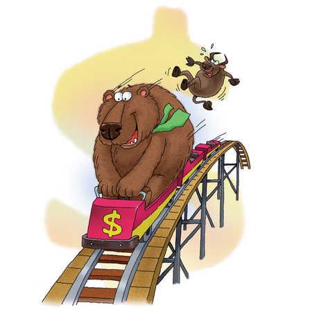 bear on a rollercoaster