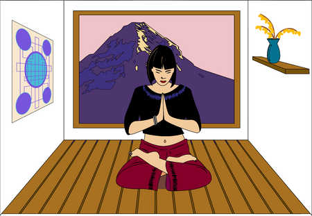A woman in meditation.
