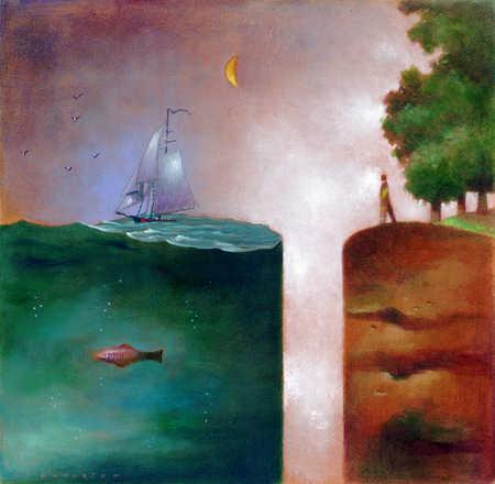 A gap between land and sea