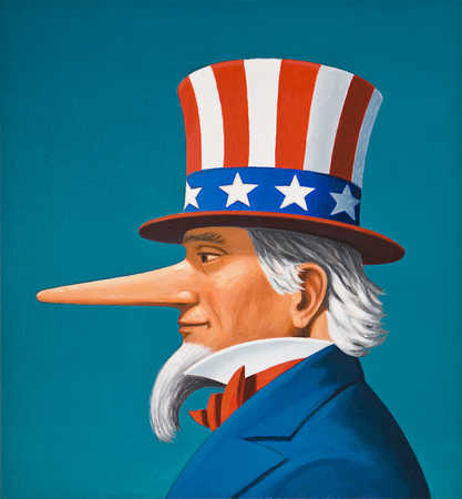 Uncle Sam with long nose