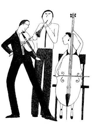 Musical trio performing