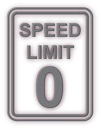 Speed limit zero sign