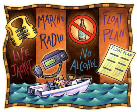 Safety warnings for boating