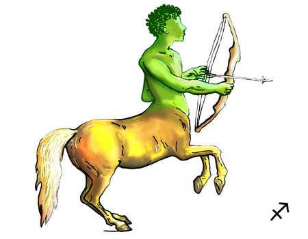 Illustration of Sagittarius centaur