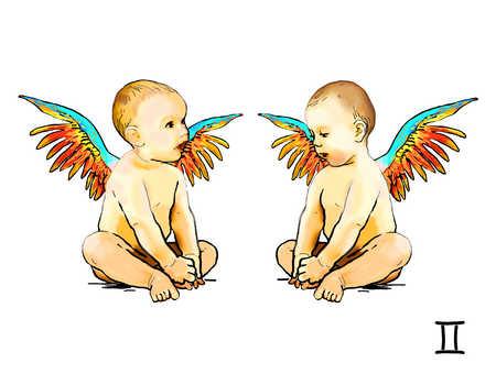 Illustration of Gemini twins