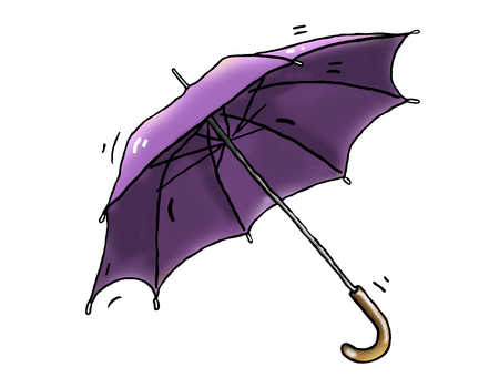 Illustration of a purple umbrella