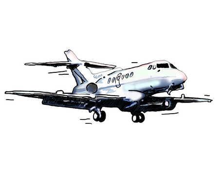 Illustration of private jet