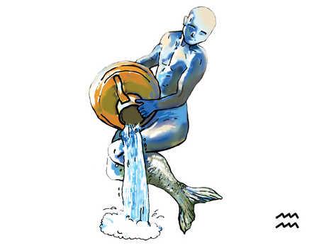 Illustration of Aquarius water-carrier