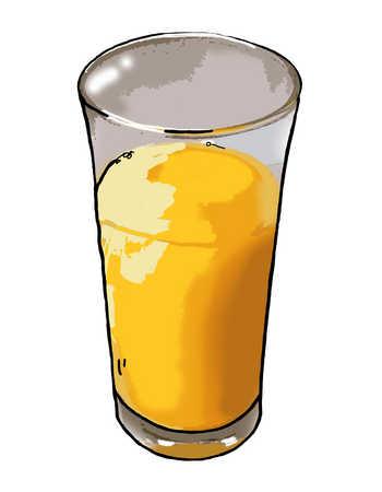 Illustration of glass of orange juice