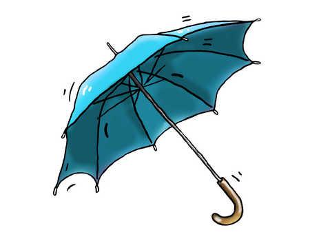 Illustration of blue umbrella