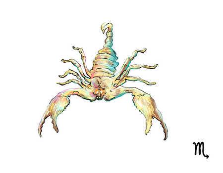 Illustration of Scorpio scorpion
