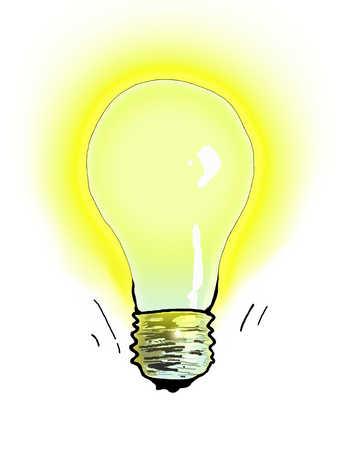 Illustration of illuminated light bulb