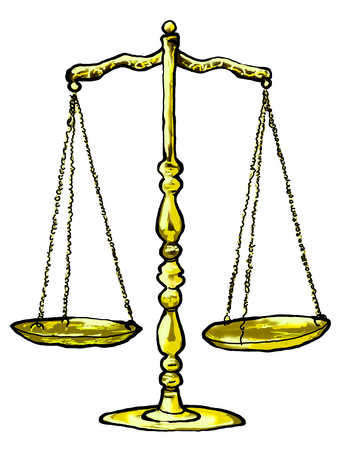 Illustration of justice scales