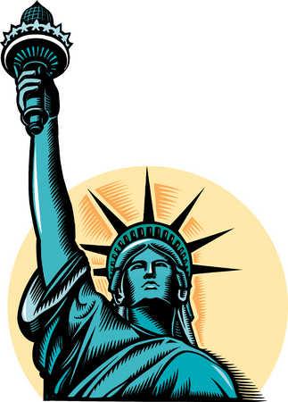 Stock Illustration - Illustration of Statue of Liberty