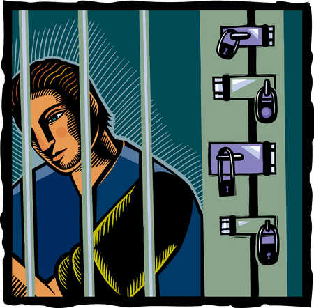 Man in jail cell