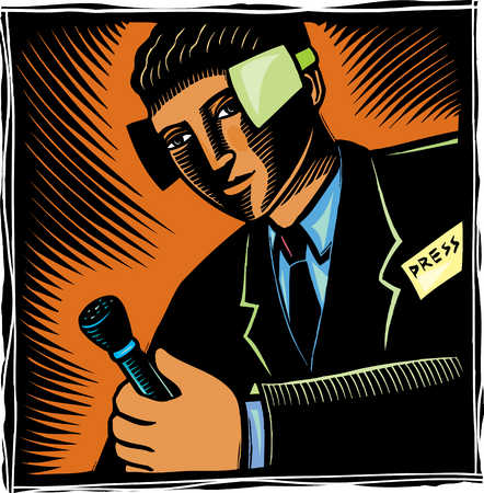 Reporter with blinders on