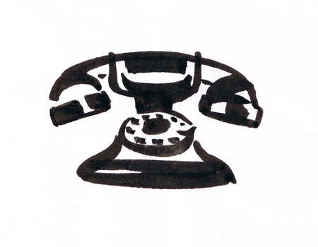 Illustration of telephone