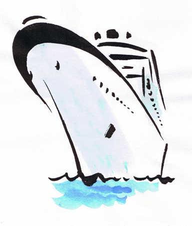 Stock Illustration Illustration Of Cruise Ship - Draw a cruise ship
