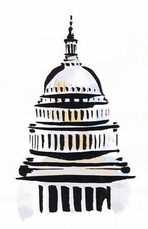 Illustration of United States Capitol building