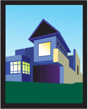 Illustration of modern house