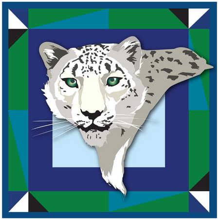 Illustration of cheetah's head