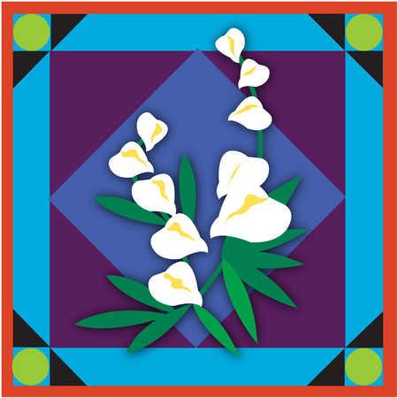 Illustration of calla lilies